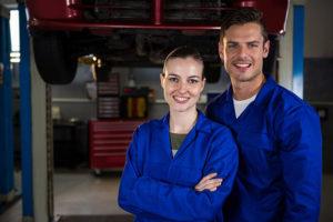 Mechanics Standing Car